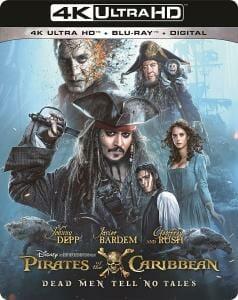 "US Cover zur 4K UHD Blu-ray von ""Pirates of the Caribbean 5: Salazars Rache"""