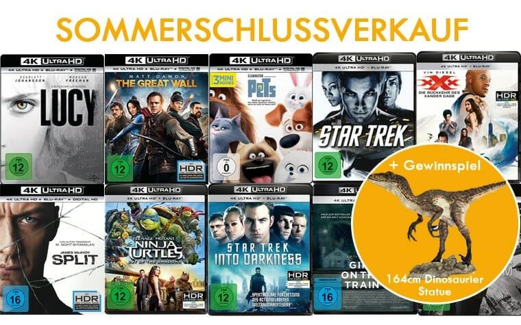 Sommerschlussverkauf mit reduzierten 4K UHD Blu-rays