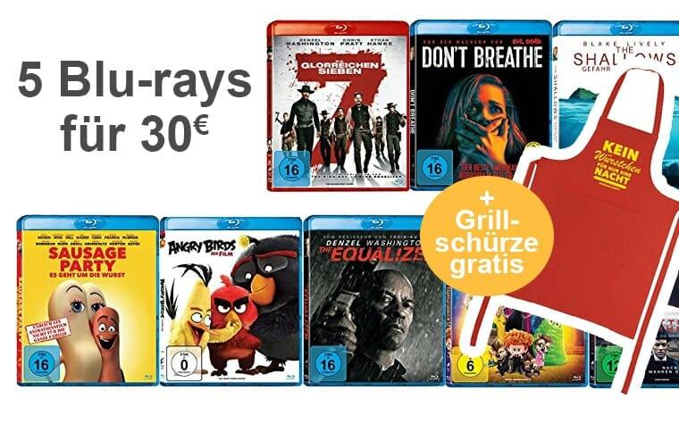 5 Blu-rays für 30 Euro Aktion!
