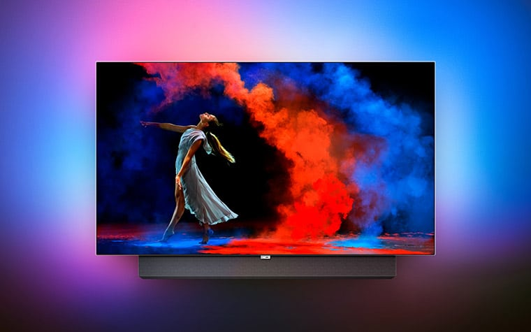 9er serie 65 zoll oled tv von philips auf der ifa 2017. Black Bedroom Furniture Sets. Home Design Ideas