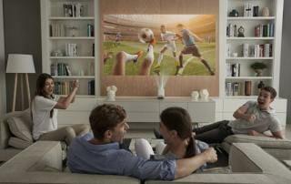 LG Allegro HF85JS Laser Kurzdistanz Projektor mit Full-HD Auflösung