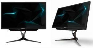 Der Acer Predator X27 ist ein Augenschmaus. Hier wird der Monitor ohne Blenden gezeigt.