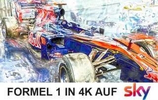 Formel 1 in 4K Ultra HD auf Sky