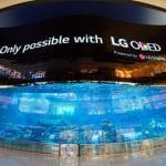 LG entüllt weltgrößte OLED-Leinwand in Dubai