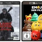 """""""Planet der Affen: Survival"""" und """"Emoji - Der Film"""" sind ab sofort auf 4K Blu-ray vorbestellbar"""