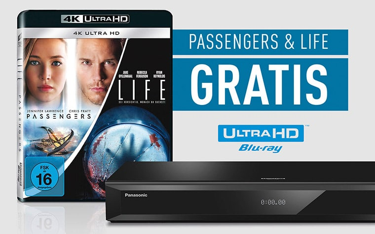 Zwei 4K Blu-rays gratis beim kauf eines Panasonic UHD Players