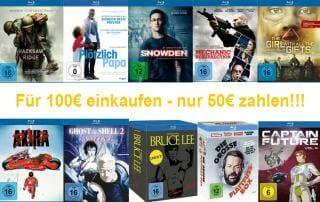 50% Rabatt: Für 100 Euro einkaufen und nur 50 Euro bezahlen!