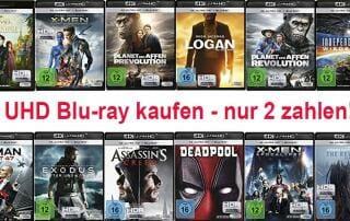 3 4K UHD Blu-rays kaufen und nur 2 zahlen!