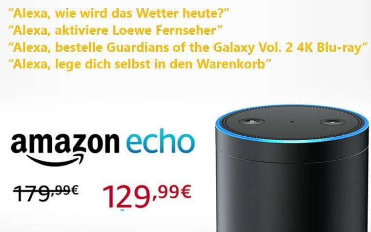 Amazon Echo für nur 129 EUR jetzt bestellen