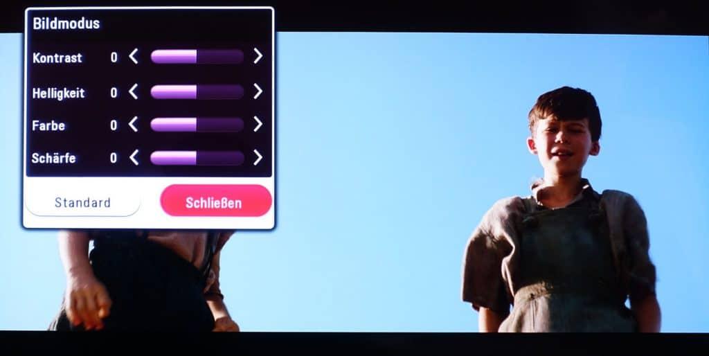 Auch im Overlay-Menü gibt es keine Möglichkeit großartig Einfluss auf die Bild- und Audioeinstellungen des UP970 zu nehmen.