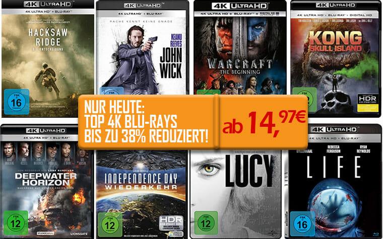 Günstige 4K Blu-rays unter 20 Euro