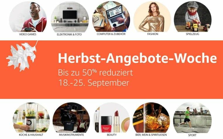 Herbst Angebote Woche Amazon.de - Bis zu -50% sparen - Günstige Angebote