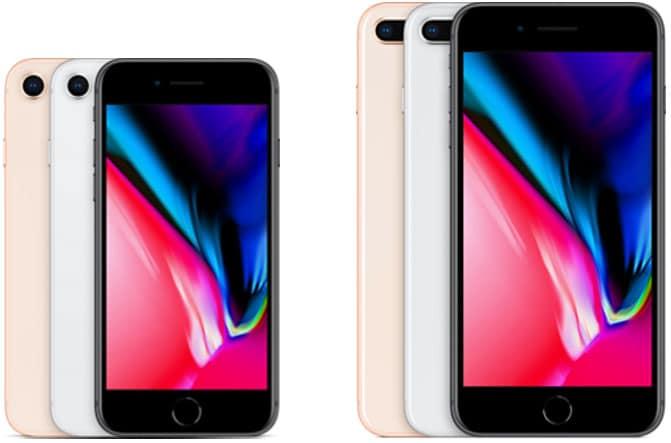 Das iPhone 8 und iPhone 8 Plus ist je als 64 GB und 256GB in den Farben Gold, Silber und Space-Grau erhältlich