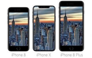 Apple iPhone 8, iPhone X und iPhone 8 Plus