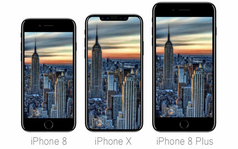 Apple iPhone 8, iPhone X und iPhone 8 Plus
