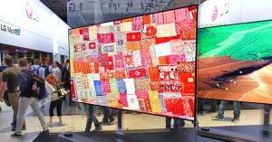 """Neben Wallpaper TVs sollen auch """"Crystal Sound OLED"""", aufrollbare Modelle und kleinere OLED-Fernseher auf der CES 2018 präsentiert werden"""
