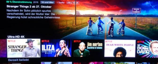 Netflix 4K Serien & Filme 2017