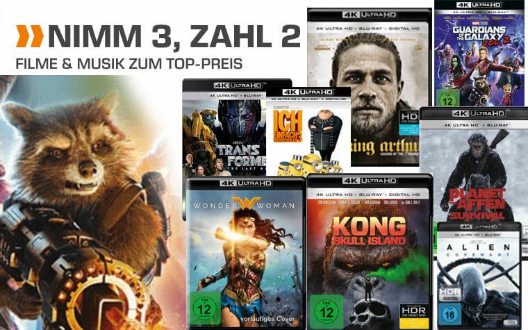 Nimm 3 zahl 2 Aktion auf 4K Blu-rays
