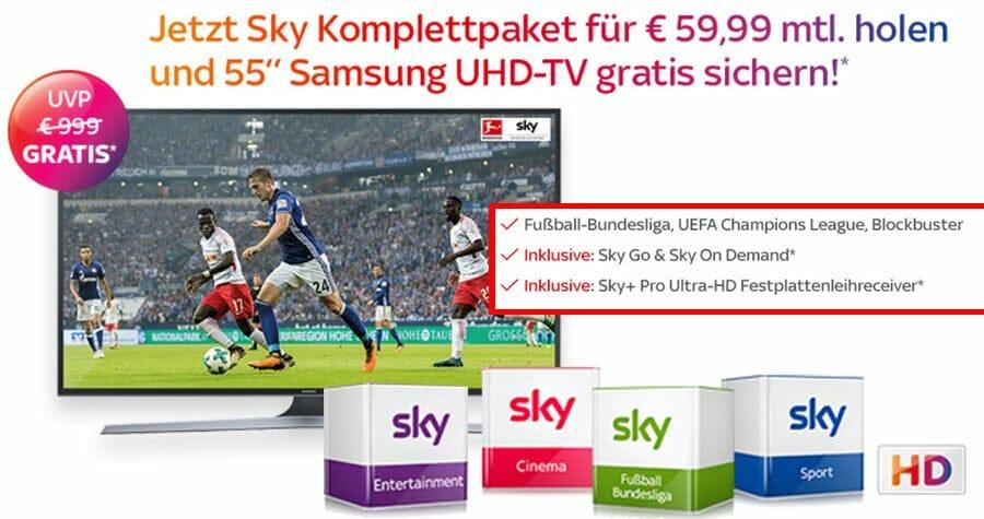 Sky Angebote Komplettpaket