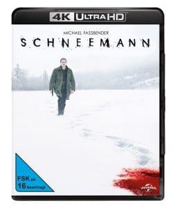 """Vorläufiges 4K Blu-ray Cover für """"Der Schneemann"""" mit Michael Fassbender"""