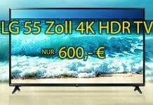 LG 55 ZOLL 4K HDR TV 55UJ6309 für nur 600 Euro