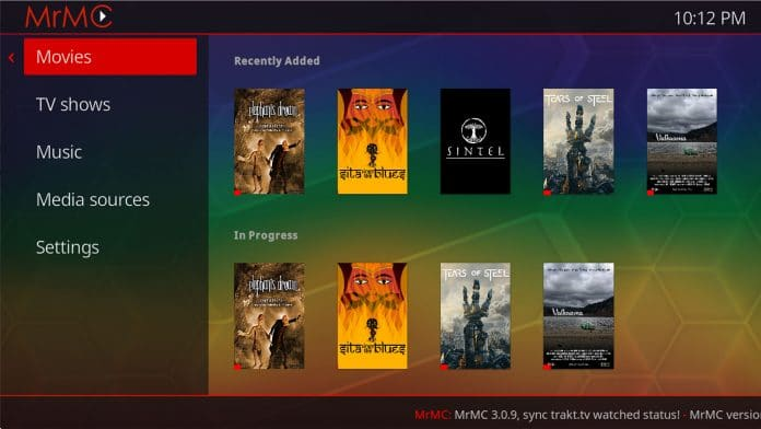Die MrMc Kodi App für Apple TV 4K unterstützt 4K und HEVC-Hardware-Dekodierung