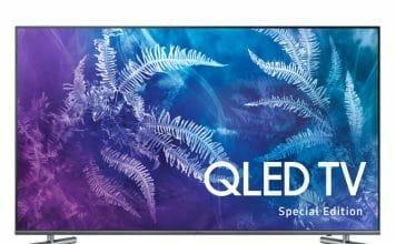 Samsung Q6F QLED TV mit flachem 49 Zoll Display