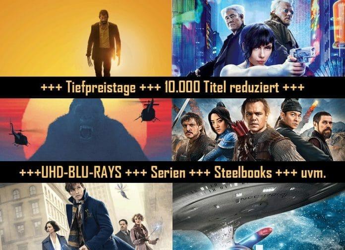 Tiefpreistage 10.000 Titel und 4K Blu-rays reduziert