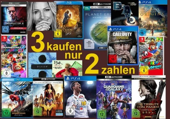 3 Kaufen 2 Zahlen auf über 120.000 lieferbare CDs, DVDs, Vinyl, Blu-rays, UHD Blu-rays und Video Games