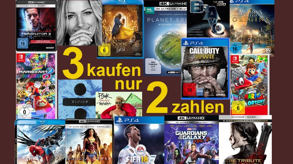Amazon Serien Aktion Kaufe 3 Zahle 2