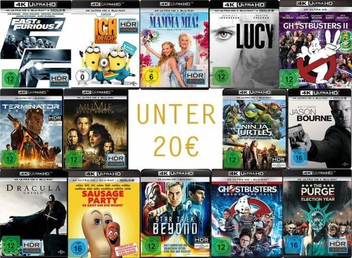 4K UHD Blu-rays unter 20 Euro! Günstiger Filmspaß für Zwischendurch
