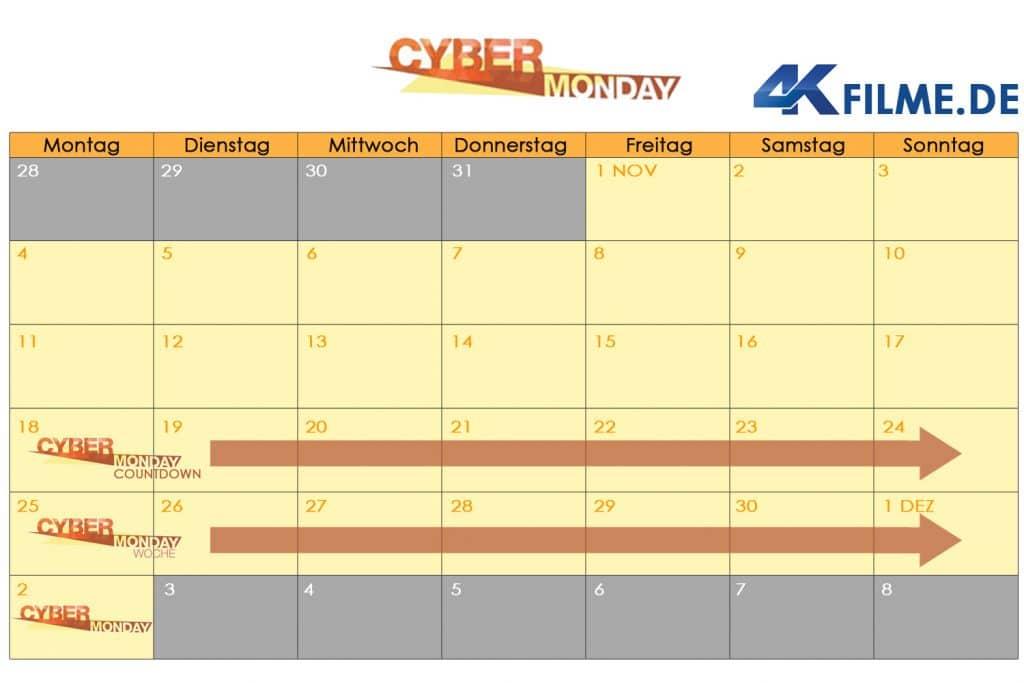 Wann startet die Cyber Monday Woche 2019? Unser Kalender verrät es euch!