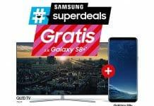 """Gratis Smartphone beim Kauf eines Samsung QLED oder """"The Frame""""-TV + Cashback für 4K Blu-ray Player und Soundbars"""