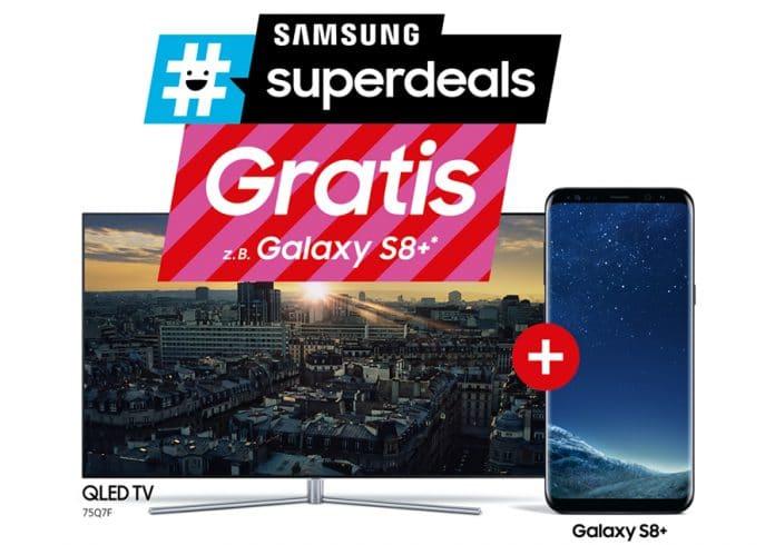 Gratis Smartphone beim Kauf eines Samsung QLED oder
