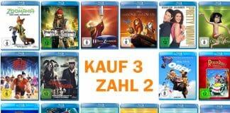 """Eine breite Auswahl von Disney-Filmen in der neuen """"Kauf 3 Zahl 2""""-Aktion von Amazon"""