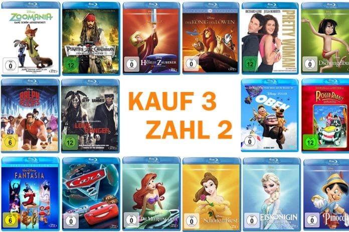 Eine breite Auswahl von Disney-Filmen in der neuen