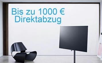 Bis zu 1.000 Euro Direktabzug für ausgewählte OLED 4K Fernseher von Loewe