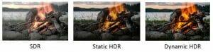 Dynamische HDR-Verarbeitung sorgt dafür, dass Szenen noch natürlicher, mit mehr Details, Kontrast und mit breitem Farbspektrum dargestellt werden können.