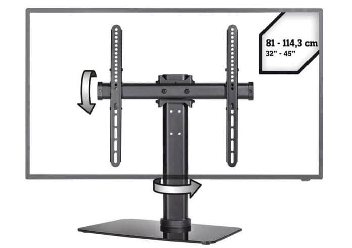 SpeaKa Professional 4K Standfuß für Displaygrößen von 32 bis 55 Zoll