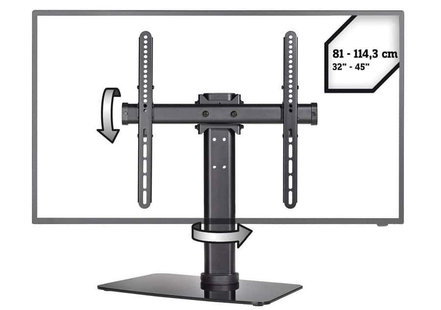 speaka professional vollbeweglicher tv standfu mit schwenk und neigefunktion 4k filme. Black Bedroom Furniture Sets. Home Design Ideas