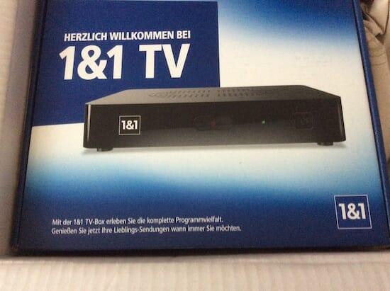 So sieht die Verpackung der neuen 1&1 TV-Box aus. Bildquelle: https://www.teltarif.de/