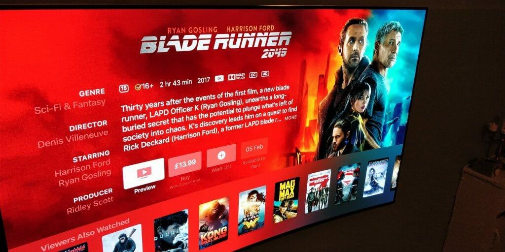 Blade Runner 2049 auf Apple iTunes in 4K & Dolby Vision. Bildquelle: @webbywonders