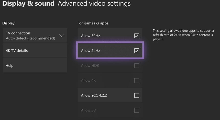 Xbox One: Erweiterte Bildeinstellungen