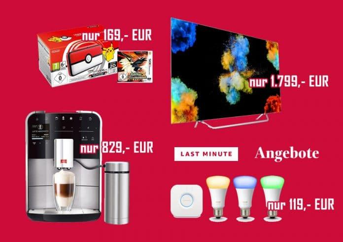 Last Minute Angebote auf Amazon.de am 18. Dezember 2017
