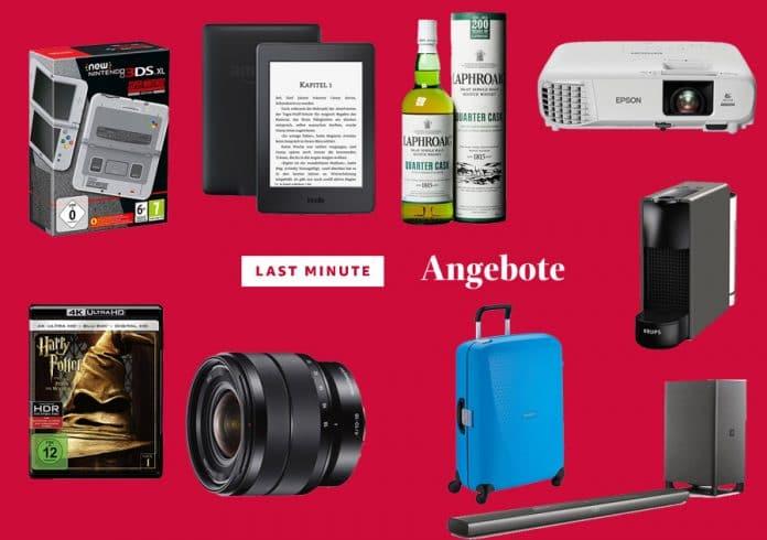 Last Minute Angebote mit günstigen Projektoren, Soundbars, Nintendo Konsolen, Objektiven uvm.