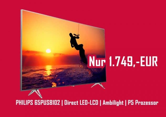Philips 65PUS8102 für günstige 1.749,- EUR