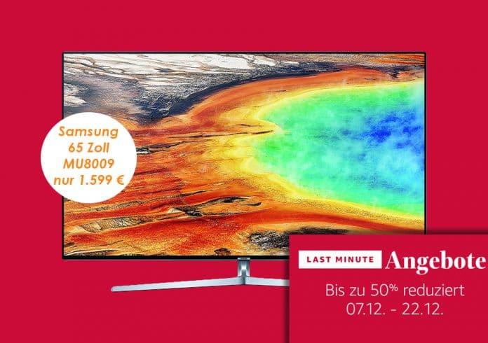 Samsung MU8009 mit 65 Zoll zum günstigsten Preis auf Amazon.de!