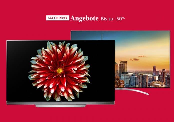 UHD & OLED TVs von LG sind heute in den Last Minute Angeboten von Amazon im Preis reduziert