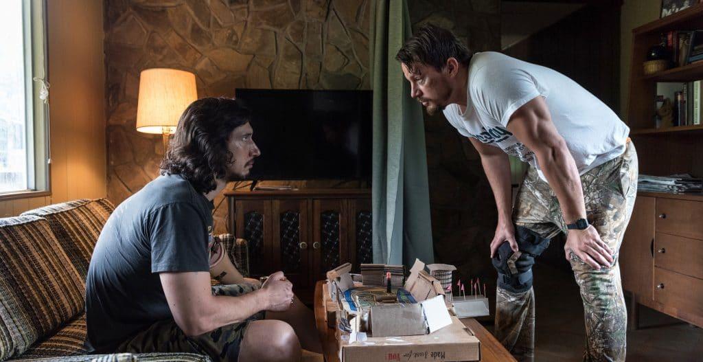 Jimmy Logan (Channing Tatum) stellt seinem Bruder Clyde (Adam Driver) seinen wasserdichten Plan vor