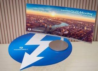 Samsung CJ791: QLED-Monitor mit Thunderbolt 3